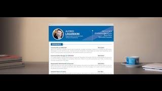"CV Original ""Travailleur"" - by Mycvfactory"