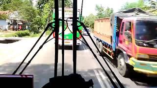 Duel sengit.!!Sugeng Rahayu CEPAT Surabaya - Purwokerto vs Efisiensi Jogja - Purwokerto..