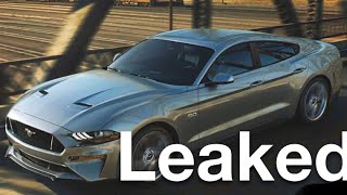 4 Door Mustang Leaked: Twin turbo v8?!