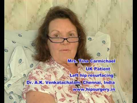 Hip resurfacing surgery India - UK patient testimonial