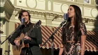 Alex & Sierra - Love is an open door ((Disney parks Christmas Day parade 2014))