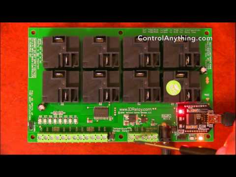 8 Channel USB Relay Controller ProXR Lite High Power Hardware Overview