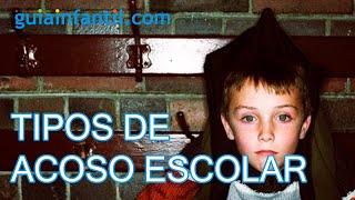 Tipos de acoso escolar o bullying entre los niños