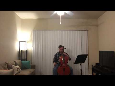 Playing the first movement of the Elgar Cello Concerto in this video.