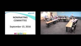 Nominating Committee Meeting 09/15/2016