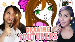Drawing YouTubers with iHasCupquake!