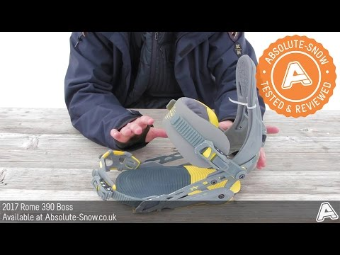 2016 / 2017 | Rome 390 Boss Snowboard Bindings | Video Review