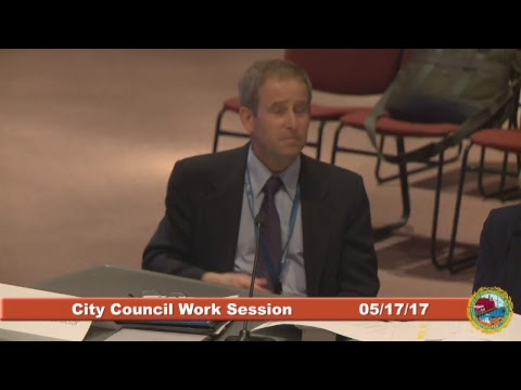City Council Work Session on the Water & Sewer Proposed FY18 Budget 5.17.2017