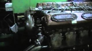 Заводим очередной танковый двигатель В-46-4 (короткое видео)