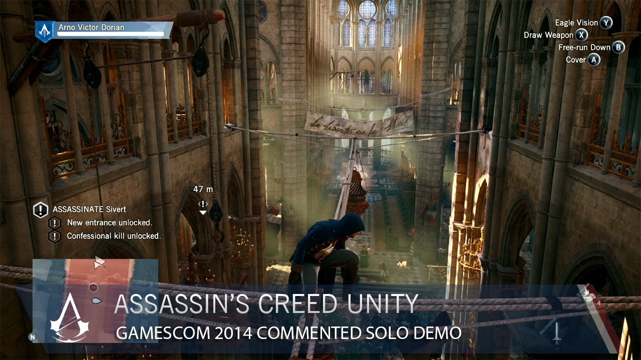 Watch 11 Minutes Of Assassin's Creed: Unity In Action