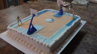 Demonstration // Simple Basketball Sheet Cake Duke/UNC