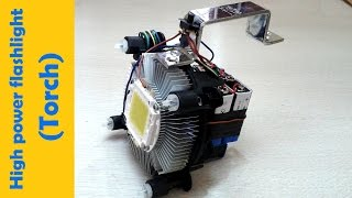 High power LED flashlight || how to make ||