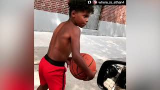 Kid Playing Basketball With No Shoes Gets Gifted New Pair