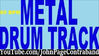 Slow Metal Drum Backing Track 80 bpm FREE