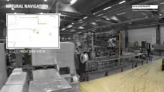 AGV navigation with no need for reflectors or markers