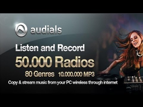 Vídeo do Audials player de rádio