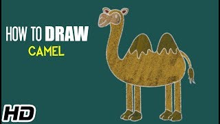 How To Draw CAMEL (ऊंट) Easy Step By Step Drawing Video For Children | Shemaroo Kids Hindi