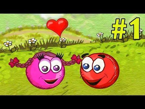 Несносный КРАСНЫЙ ШАР спасает любимую #1. Мультик ИГРА Red Ball 3 на Игрули TV видео