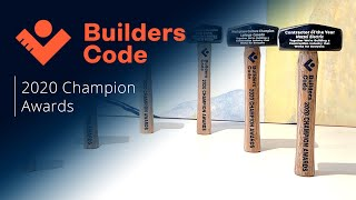 Builders Code Champion Awards 2020