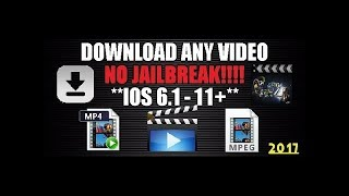 Download Any Video iPhone & iPad (iOS 6.1 - 11+)