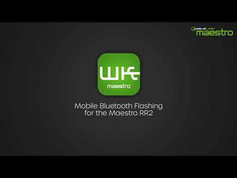 Flashing the Maestro RR2 through the Bluetooth  Weblink Maestro application for Android & iOS
