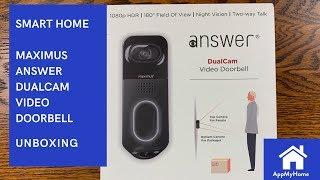 Maximus Answer DualCam Video Doorbell Unboxing