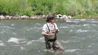 The Gallatin River Catches Ken Fly Fishing in Big Sky Montana