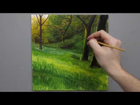 #134 Painting Woodland Bluebells