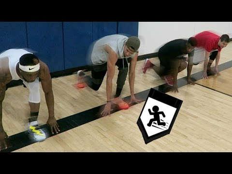 WHO'S THE FASTEST CHALLENGE! BASKETBALL SUICIDES! Feat. LSK, TDPresents & Malcolm