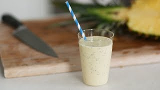 Healthy Pineapple Smoothie with Coconut Water