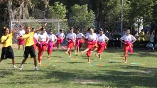 แข่งขันเต้นแบโรบิค กีฬาสีโรงเรียนสตรีสิริเกศ 58
