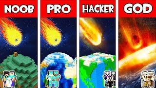 Minecraft - NOOB vs PRO vs HACKER vs GOD : FAMILY PLANET vs METEOR in Minecraft Animation