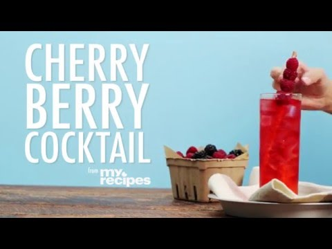 How to Make a Cherry Berry Cocktail