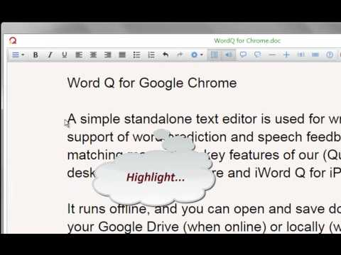 wordQ for Google Chrome