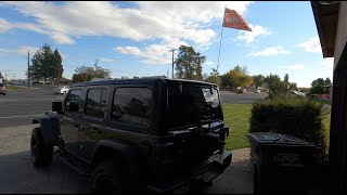 Flag mount for Jeep Wrangler JL