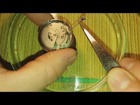 Замена циферблата на Orient Crystal 21 jewels. ( снятие заводного ключа )