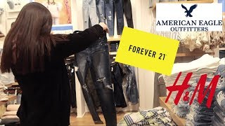 Teen Shopping Spree Vlog At The Mall | American Eagle, H&M, Forever 21