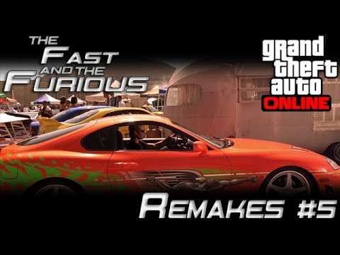 The Fast And The Furious Car Remakes - Brian's Toyota Supra MK IV (GTA Online Jester Classic)