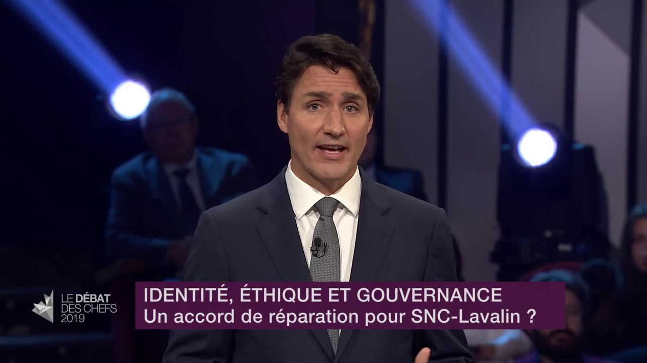 Justin Trudeau answers a question about SNC-Lavalin