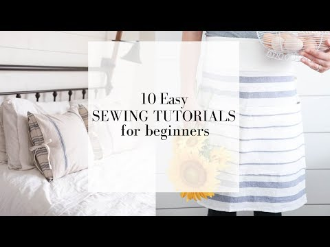 10 Easy Sewing Tutorials for Beginners   FREE ONLINE SEWING COURSE
