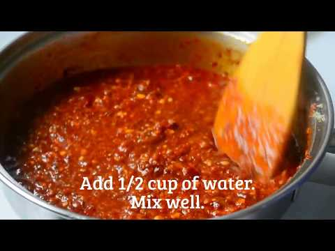 Szechuan Sauce / How to make szechuan sauce/ schezwan chutney?