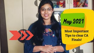 Most Important Tips to Clear CA Exams May 2021 | CA Meenakshi Karwa