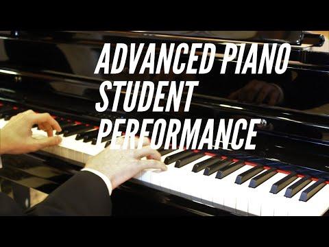 Advanced piano student performance.