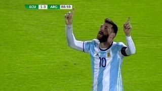 Le Triplé de MESSI vs L'Equateur - Qualification Coupe du Monde 2018