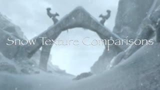 Skyrim SE - Snow Texture Mod Comparison (Nordic, Fluffy, Skyland) Xbox one