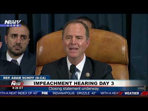CLOSING STATEMENT: Adam Schiff following impeachment hearings day 3