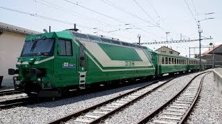 MBC Locomotives Ge 4/4 21-22 - Train de gravier sur bogies transporteurs