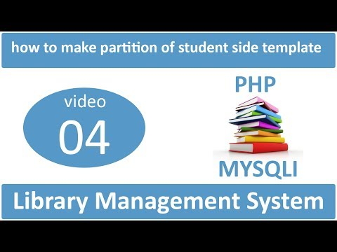 how to make partition of student side templates in LMS
