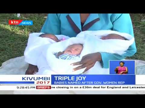 Drama in Eldoret after woman names her triplets after politicians in the county