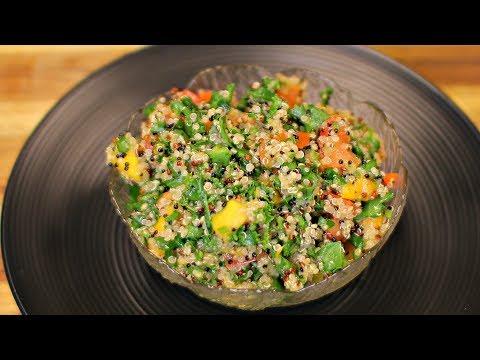 Vegan Quinoa and Mango Salad – quinoa recipes – healthy vegan diet side dishes – kale salad dinner